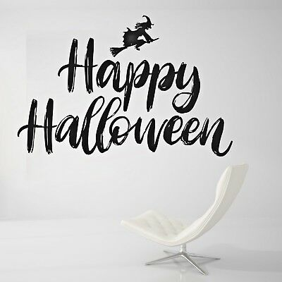 Happy Halloween Wall Decal Living Room or Outside Wall Paper Sticker J463 (Halloween Wallpaper Live)