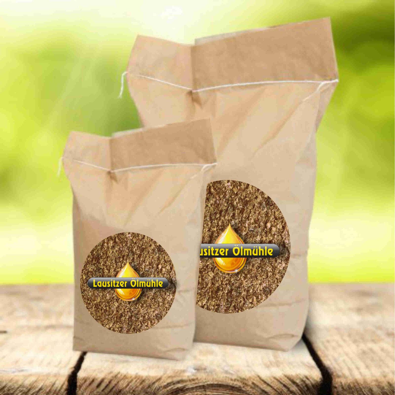 10 kg Leinkuchenmehl Lausitzer Leinkuchen Futtermittel für Pferde - zertifiziert