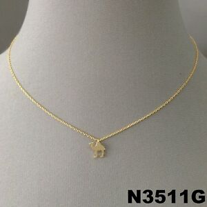 Simple Unique Gold Finish Animal Camel Hump Shape Charm Dainty Short Necklace