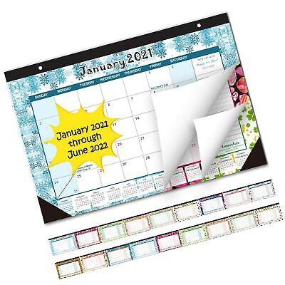 Desk Calendar 2021-2022: Large Monthly Pages 17 x 11-1/2 Inches Runs from Jan...