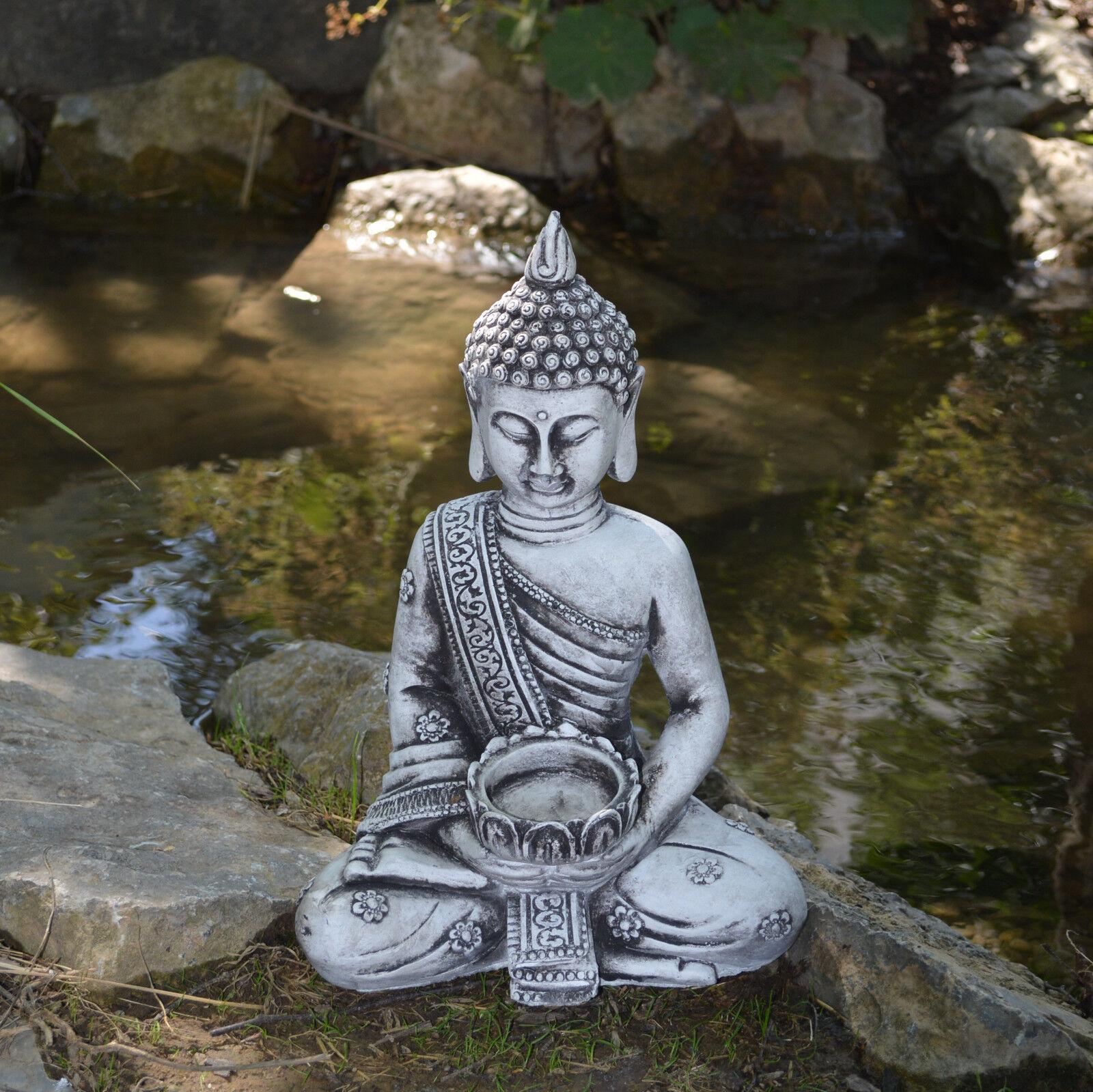 massive sculpture en pierre bouddha petit pour photophore décoration