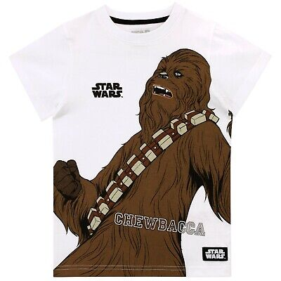 Star Wars T-Shirt | Boys Chewbacca Short Sleeve Top | Kids Star WarsTee