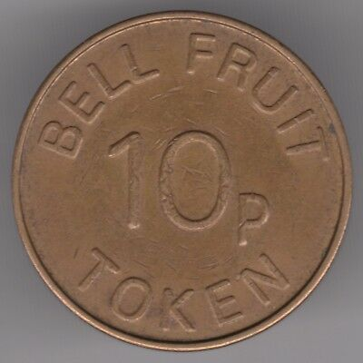 United Kingdom Bell Fruit Brass 10p Token