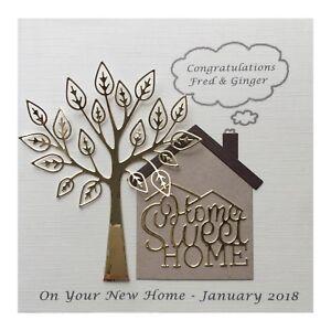Personalised New Home Card Handmade