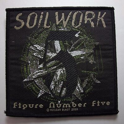 Soil Work Figure Number Five Official Woven  Patch