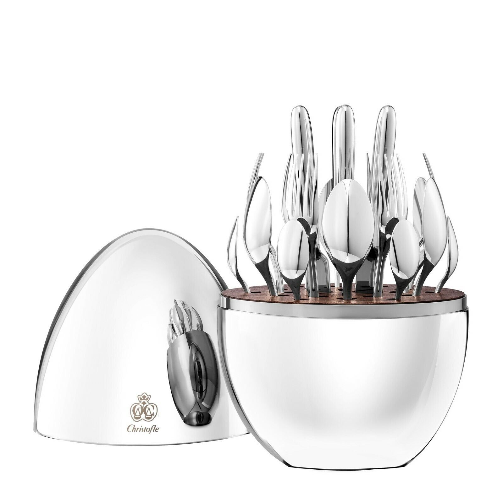 New Mood Party by Christofle Silver Plate Flatware Set 24 Pc Appetizer Dessert