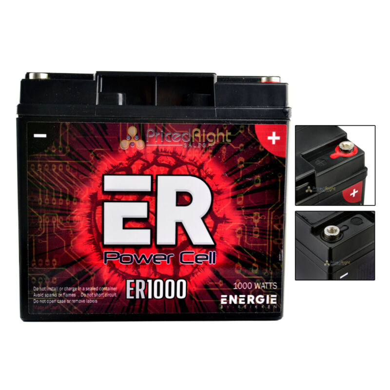 Car Audio Power Cell Battery Energie ER1000 12 V Volt 1000 Watt Sealed Reikken