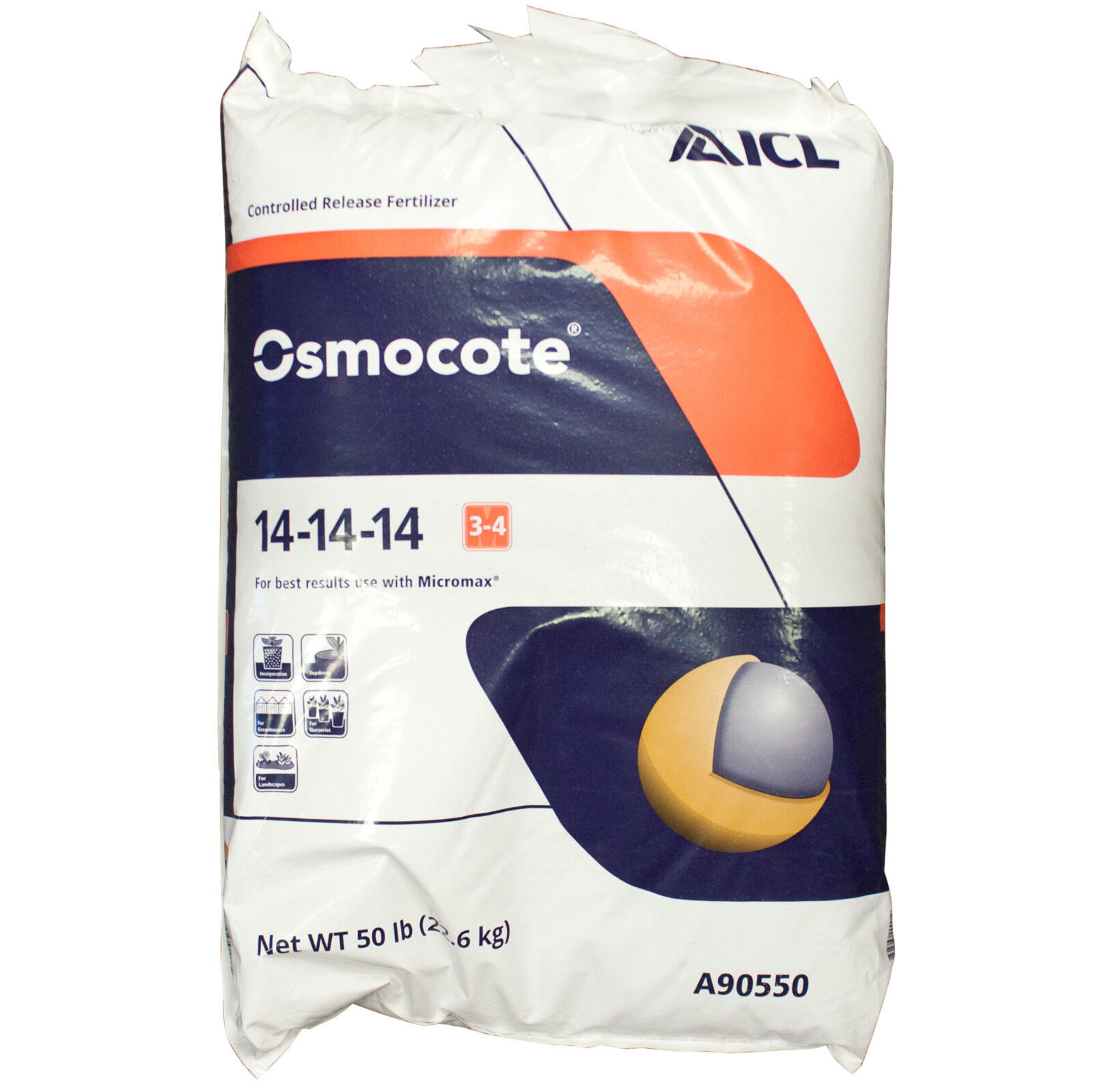 Osmocote Classic 3-4 Month 14-14-14 Fertilizer 50 Lbs Everri