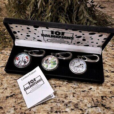 New LE DISNEY CATALOG 35th Anniversary 101 Dalmatians Cruella Pocket Watch Set