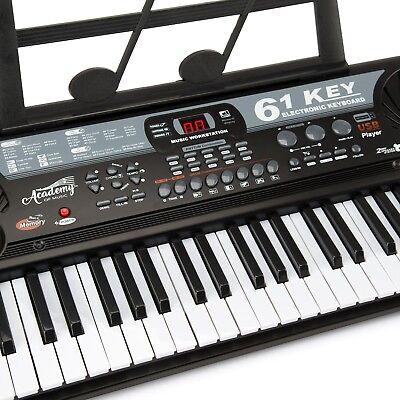 TOYRIFIC ACADEMY OF MUSIC KIDS MUSICAL INSTRUMENT 61 KEY ELECTRIC KEYBOARD PIANO