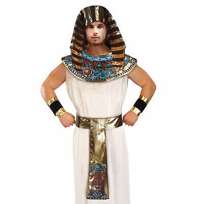 Mens Pharaoh Set Mens Ladies Egyptian Kit Fancy Dress Costume Accessories