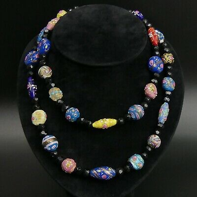 60s -70s Jewelry – Necklaces, Earrings, Rings, Bracelets VINTAGE MURANO GLASS BEADS 98 CM NECKLACE 1960'S $117.49 AT vintagedancer.com