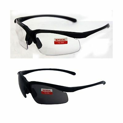 Lot Of 2 Apex 2.0 Bifocal Safety Glasses Clear Smoke Lens Readers Global Vision