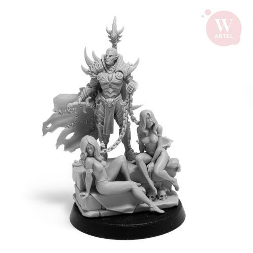 Artel W Dark Elves Raidmaster With 2 Female Slaves 28mm Miniature