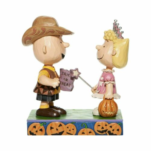 Jim Shore Peanuts HALLOWEEN Charlie Brown Sally Trick or Treat  6006944 NEW 2020