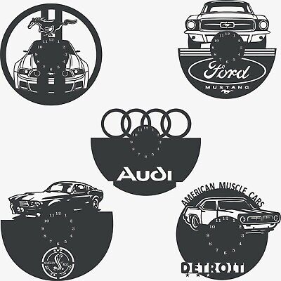 Dxf Cdr File For Cnc Plasma Router Or Laser Cut - Cars - Clocks - Ford Audi