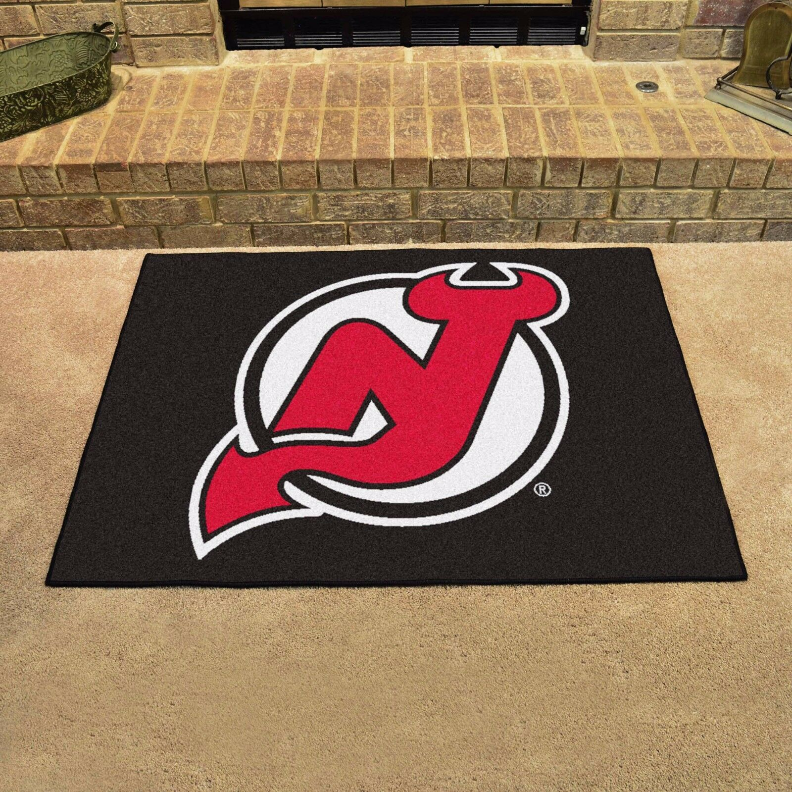 FANMATS NHL New Jersey Devils Nylon Face All-Star Rug