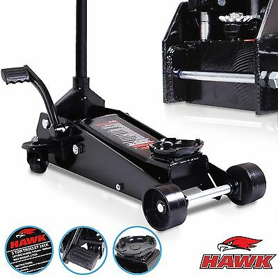 HAWK TOOLS HEAVY DUTY 3 TON DIY HOME WORKSHOP QUICK LIFT HYDRAULIC TROLLEY JACK