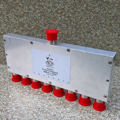 Meca Power Divider Combiner 808-4-1 .700v 8-way Type N Female 0.698-2.7 Ghz 40w
