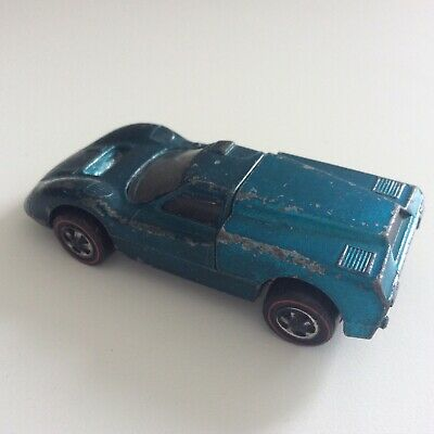 Hot Wheels Redline Ford J Car Rare Light Blue US 1968 Sweet 16 First Year Late