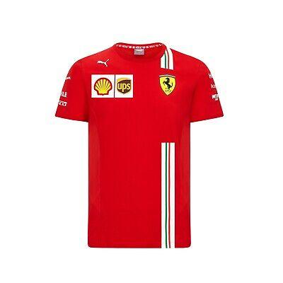 NEW 2020 Scuderia FERRARI F1 Team T Shirt Tee MENS Red Vettel, Leclerc OFFICIAL
