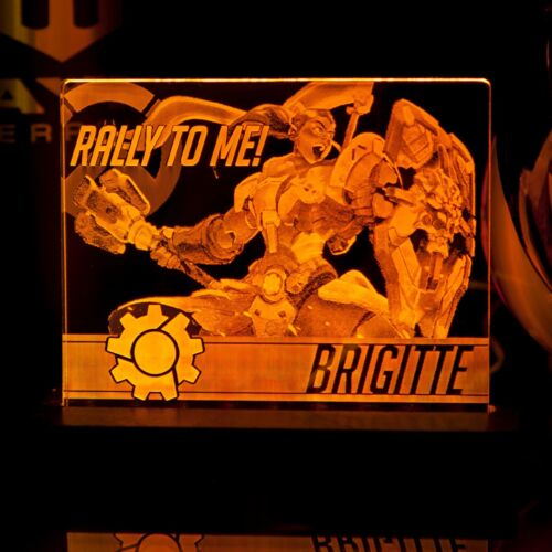 Overwatch Brigitte LED lighted acrylic sign