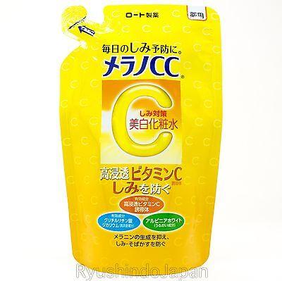 ROHTO MELANO CC Refill Anti-Spot Whitening Lotion Toner with Vitamins C, E 170mL