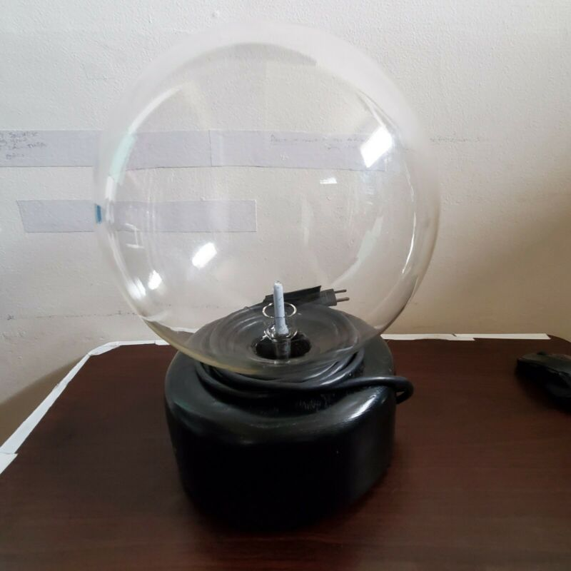 Original Falk Signed Sculpture 350/500 Groundstar Plasma Ball Sphere Globe Light