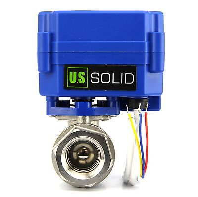 U.s. Solid 12 Electric Motorized Ball Valve 9v 12v To 24 V 3 Wire Ss304