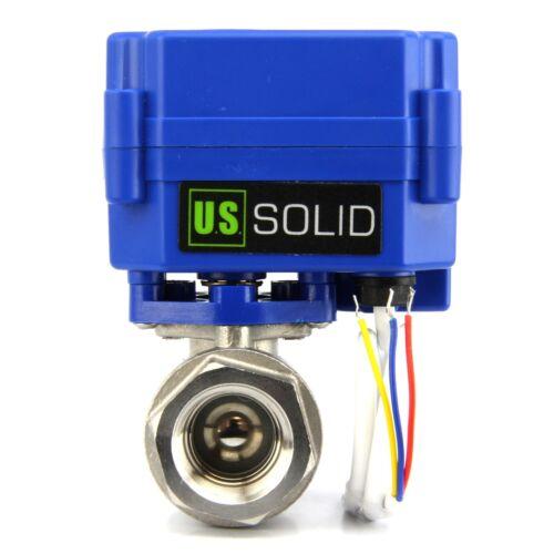 """1/2"""" Motorized Ball Valve Stainless Steel Electric Valve 9V 12V to 24 V, 3 wire"""