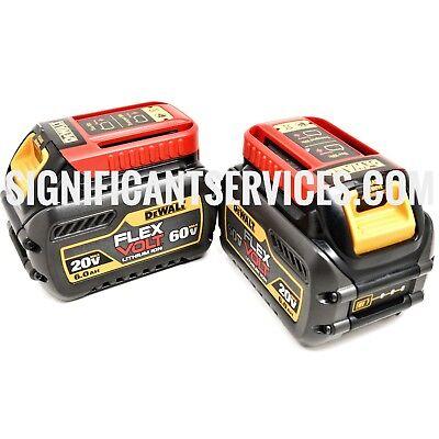 Brand New DeWalt DCB606-2 Lithium Ion 20/60 Volt FlexVolt Battery 6.0Ah 2 Pack