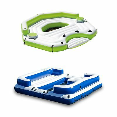 Intex Inflatable Key Largo Island Float with Coolers & Intex Oasis Island -
