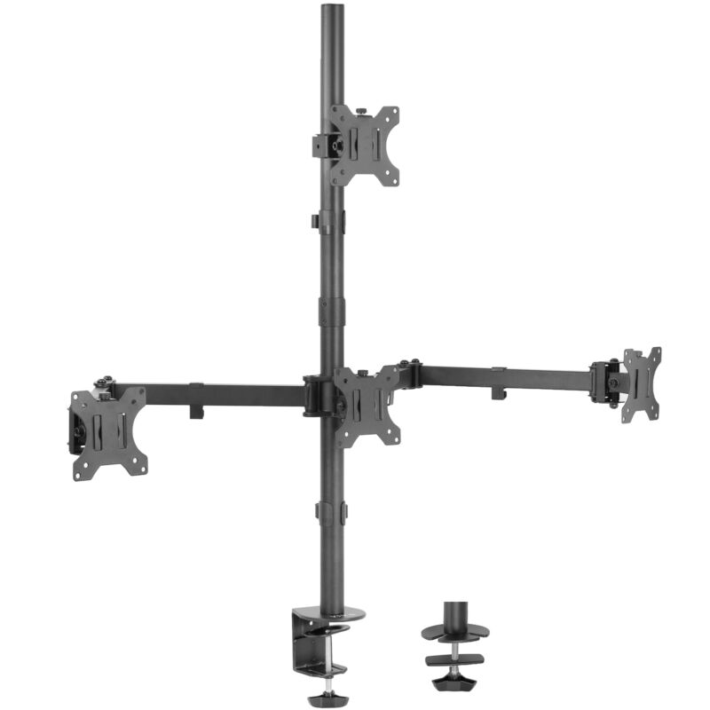 """VIVO Quad Heavy Duty 13"""" to 24"""" Monitor Desk Mount 