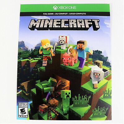Minecraft Xbox One Full Game DOWNLOAD Key CARD Digital Standard Ed. Microsoft