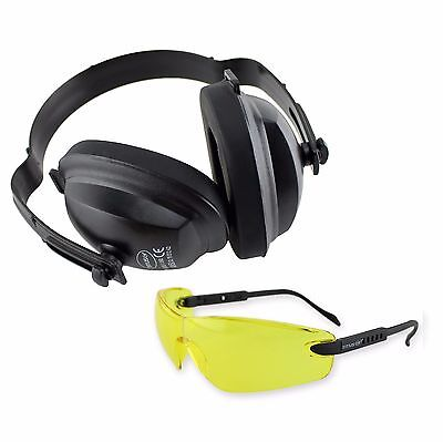 Earmuffs Eye Protection Headphones Glasses Shooting Range Noise Reduction