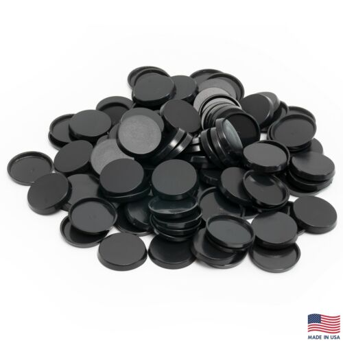 Pack of 100, 32 mm Plastic Round Bases Miniature Wargames Table Top gaming