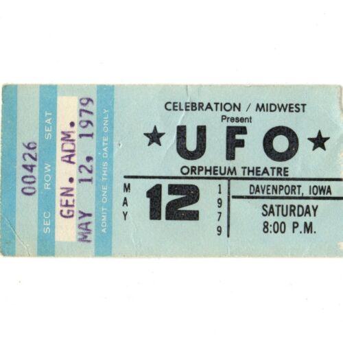 AC/DC & UFO Concert Ticket Stub DAVENPORT IA 5/12/79 IF YOU WANT BLOOD BON SCOTT