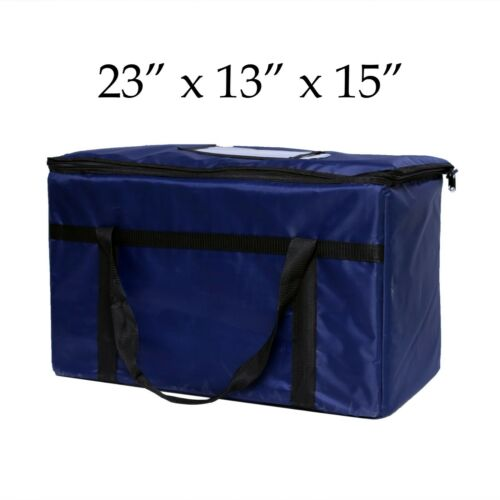 "Blue Nylon Insulated Food Delivery Bags 23"" x 13"" x 15"" - Restaurant Linen Store"