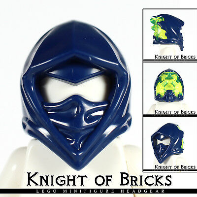 LEGO Minifigure DARK BLUE Headgear Helmet Ninjago Wrap w Narrow Eye Hole - Blue Lego Ninjago