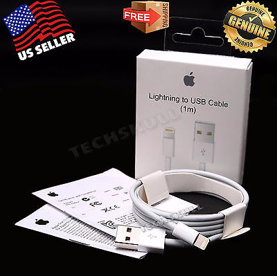 OEM Original Genuine Apple iPhone 7 7S 6 6S Plus 5C Lightning USB Cable Charger