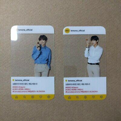 [Official] BTS x Lemona Transparent Photocard V (Taehyung) & SUGA