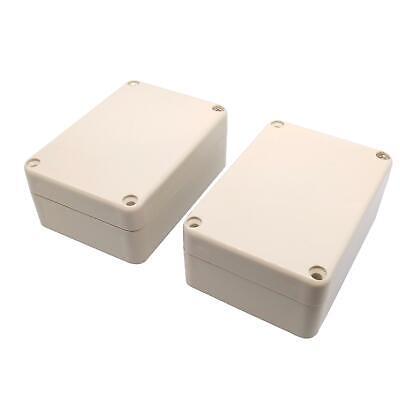 2pcs Waterproof Abs Plastic Project Box Electronics Enclosure Box 33x58x83mm