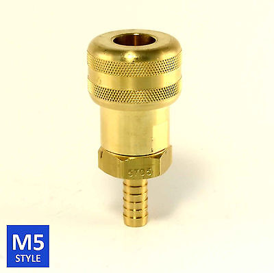 Foster 5 Series Brass Quick Coupler 12 Body 38 Hose Barb Air Water Fittings