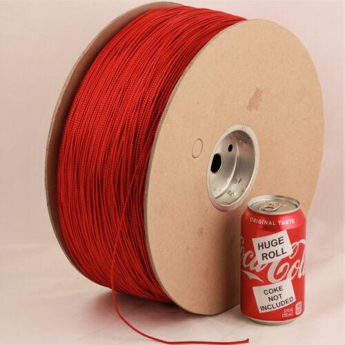 BULK LOT Red Metallic #03 Needloft Nylon Craft Cord - 4,500 feet! USA