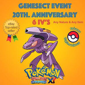 Pokemon-ORAS-XY-GENESECT-EVENT-POKEMON-20th-ANNIVERSARY-6IV-s-ANY-NATURE