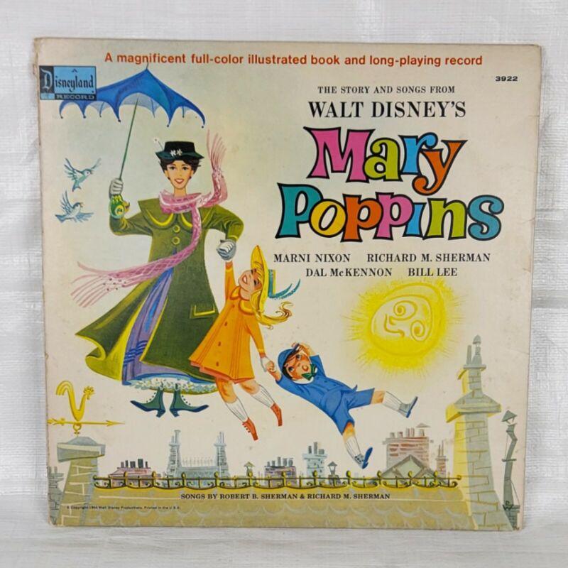 1960s Disney Mary Poppins Storybook Record, Vintage Vinyl, Children