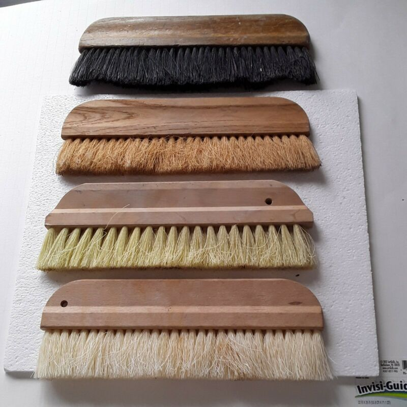 Lot of 4 various ages of Wallpaper smoothing brushes