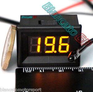 MINI-TERMOMETRO-DIGITALE-da-PANNELLO-LED-GIALLO-30-70-NTC-DC-auto-moto-camper