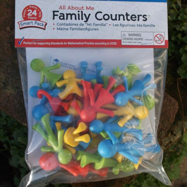 FAMILY people sorting COUNTERS (24) Preschool learning resource 'All about me'