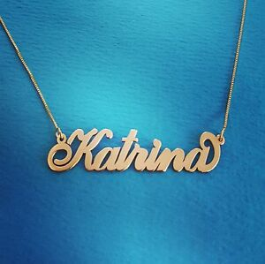 14k Gold Chain with Name, my name necklace, 14 carat gold, nameplate name plate